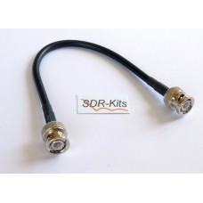 RG223 24cm Coax Cable with BNC plug to BNC plug connectors  (BNC Thru Calibration cable)