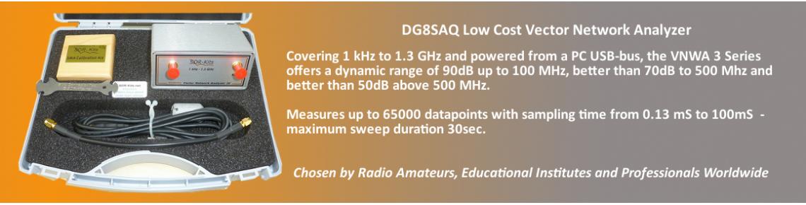 DG8SAQ VNWA 3EC in Presentation Case with SDR-Kits Cal Kit