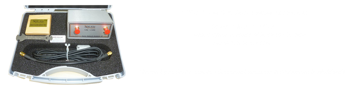 DG8SAQ VNWA 3E in Presentation Case with SDR-Kits Cal Kit