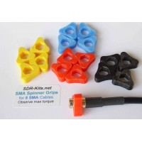 SMA Spinner Grips 8 Cable Set  - Assorted Colours