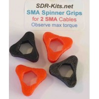 SMA Spinner Grips 2 Cable Set  - Red/Black