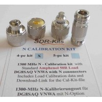 N Connector 4-pc (Male and Female) Universal Calibration Kit -  with Data