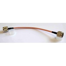 RG400 22cm Coax Cable with N plug to N plug connectors  (N Thru Calibration cable)